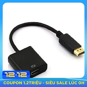 Dây Cáp Chuyển Đổi DisplayPort Sang HDMI màu đen