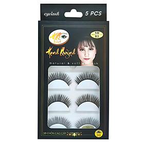 5 cặp lông mi giả cong vút Natural & Soft Eyelash (số 03)