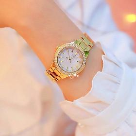 Đồng hồ dây kim loại thời trang nữ D7 Dây kim loại mặt tròn, có 3 màu vàng,bạc,demi