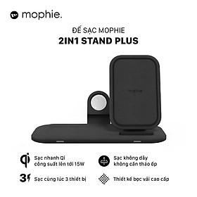 Đế sạc không dây Mophie 2in1 Stand Plus - Hàng chính hãng