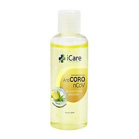Gel rửa tay dược liệu AntiCoro nCoV -  Thương hiệu iCare Pharma - 100ml