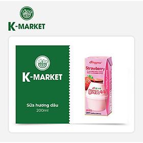 K-Market - Sữa Hương Dâu (200ml)