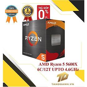 BỘ VI XỬ LÍ AMD Ryzen 5 5600X 6C/12T UPTO 4.6GHz - HÀNG CHÍNH HÃNG