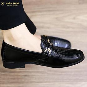 Giày Da nam cực chất xả kho giá gốc- giày lười nam-giày tây nam-mã L157