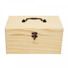 Hình đại diện sản phẩm 32 Slots Essential Oil Aromas Wooden Box Storage Case Organizer Aromatherapy With Handle