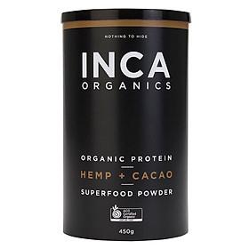 INCA Organics Organic Protein Hemp + Cacao Superfood Powder 450G Online Only