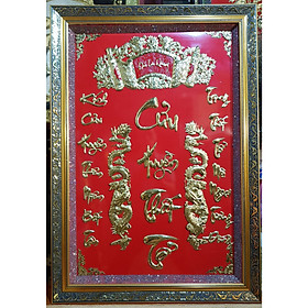 LIỄN THỜ - CỬU HUYỀN THẤT TỔ - Chữ Việt ( Đồng vàng nguyên chất 100%)
