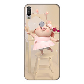Ốp lưng điện thoại Asus Zenfone Max Pro M1 hình Heo Con Mặc Váy