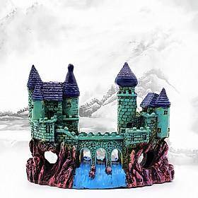 Mô hình lâu đài xanh trang trí bể cá phụ kiện thiết bị bể cá cảnh quan bể cá trang trí nhà cửa lũa bể cá thủy sinh