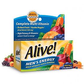 Thực Phẩm Chức Năng Vitamin Tổng Hợp Nam Giới Alive Men's Energy, 50 Viên