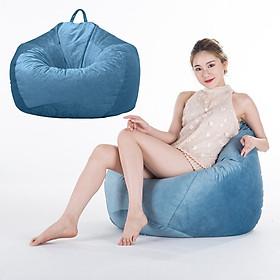 2 Blue_2 Ghế Ghế Sofa Nhung Lười Beanbag House Bao Không Chất Độn cho Phòng Ngủ