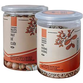 COMBO SIÊU TIẾT KIỆM - 1 Hũ Hạt Dẻ DK Harvest 250g + 1 Hũ Hạt Hướng Dương Dk Harvest 250g