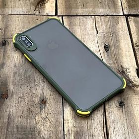 Ốp lưng chống sốc toàn phần màu lá mạ dành cho iPhone X / XS