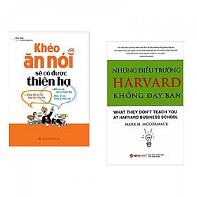 Combo 2 Cuốn Sách Hay Nhất Dành Cho Nhà Kinh Doanh: Những Điều Trường Harvard Không Dạy Bạn + Khéo Ăn Nói Sẽ Có Được Thiên Hạ - (Tặng Kèm Postcard Greenlife)