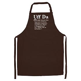 Tạp Dề Làm Bếp In Hình Uff Da Definition Premium