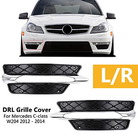 for MERCEDES C-CLASS W204 2012 - 2014 NEW FRONT BUMPER DRL GRILLE LEFT N/S PASSENGER