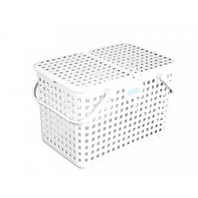 Giỏ đựng đồ đi sinh bằng nhựa cao cấp quai giữa có nắp đậy NACHI INOCHI Nhật Bản - Nhiều Màu - ( D x R x C ) tương ứng ( 463 x 320 x 311 ) mm