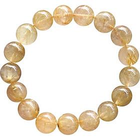 Vòng Thạch Anh Tóc Vàng Myanmar Ngọc Quý Gemstones (12.5mm)