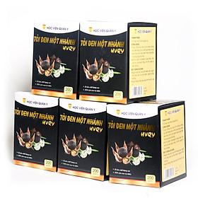 Combo 5 hộp tỏi đen một nhánh (cô đơn) Học Viện Quân Y (200g / hộp)