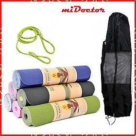 Thảm Tập Yoga, Gym miDoctor + Bao Thảm Yoga (Giao Màu Ngẫu Nhiên)