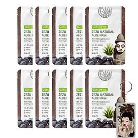 Mặt nạ lô hội dưỡng ẩm và làm mịn da Welcos Hàn Quốc 10x20ml - Bộ 10 miếng - kèm móc khóa