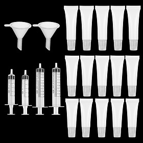 Lip Gloss Tubes Clear Empty Lip Balm Containers Empty Lipstick Tube With Syringe Refillable Soft Lipgloss Squeeze Tubes