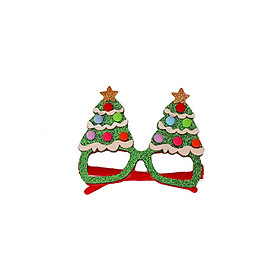 Christmas Glitter Party Glasses Christmas Decoration Costume Eyeglasses Party Glasses Frame for Holiday Favors(Tree)