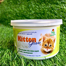 Kitten Grow – Sữa Cao Cấp Dành Cho Mèo Con 1 Ngày Tuổi Trở Lên – An Toàn, KHÔNG Gây Tiêu Chảy – Thuộc Thương Hiệu Uy Tín Chất Lượng Về Chế Phẩm Sinh Học Dùng Trong Chăn Nuôi – KG01