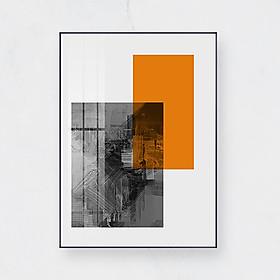 Tranh trừu tượng nhiều màu sắc (kt 50x70cm) Giao màu ngẫu nhiên