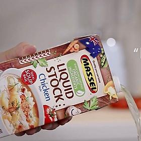 Nước Dùng Gia Vị Gà Massel Organic Stock Chicken Style - Nước Dashi Rau Củ Từ Nguyên Liệu Hữu Cơ, Không Bột Ngọt - Hộp 1 lít - Thích hợp ăn chay, ăn mặn, bé ăn dặm