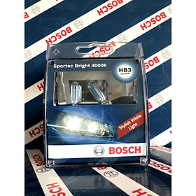 Bóng đèn Bosch 9005 HB3 12V 65W Sportec Bright  4000K Hộp 2 bóng đèn sương mù , đèn cốt , đèn pha