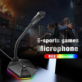 Computer  Usb  Microphone Rgb Luminous Flexible Microphone Chat Video Conference Microphone