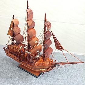Mô hình tàu chở hàng 3 cánh buồm - gỗ cẩm 40cm
