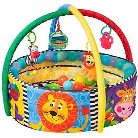 Nhà banh có đồ chơi treo nôi Playgro Ball Activity Nest, cho bé sơ sinh đến 24 tháng