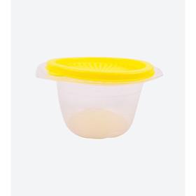 Set 4 hộp nhựa tròn đựng thực phẩm - màu vàng