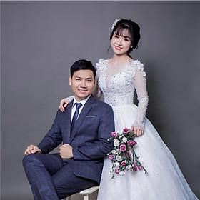 Chụp 1 hình cổng phong cách Hàn Quốc – ảnh cưới ép gỗ lụa 60×90 Laminate tại phim trường Tini + 5 ảnh 13x18