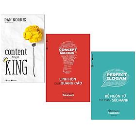 Combo Sách Kinh Tế Đặc Sắc: Content Đúng Là King + Linh Hồn Của Quảng Cáo + Để Ngôn Từ Trở Thành Sức Mạnh (Bộ 3 cuốn - Tặng kèm Bookmark Green Life)