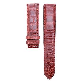 Dây đồng hồ nam cá sấu màu nâu đỏ DH03