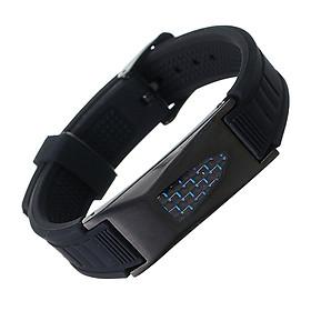 7 in 1 Titanium Magneticy Energy Armband Healthy Bio Bracelet Silicone Belt Black