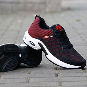 Giày Nam Thể Thao Đế Air  Sneaker Tăng Chiều Cao  VNS-8801 Đế Cao Su Siêu Bền Lớp Trong Bằng Cotton Siêu Thấm Vải Ngoài Bằng Sợi Polyeste Bền Thoáng Khí Màu Sắc Sắc Nét Khó Phai Màu Gia Công Chắc Chắn Tỉ Mỉ