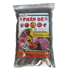 02 gói Phân dê sạch 100% Organic đã qua xử lí tốt cho Lan - cây cảnh và cây trồng gói 1Kg