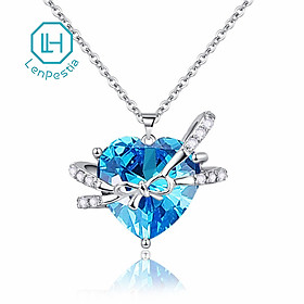 phụkiệnDâyChuyềnLenpestia Heart of the Sea Bow Clavicle Necklace