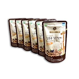 Combo 6 bịch Sữa Dinh Dưỡng Tăng Chiều Cao từ Óc chó Hạnh nhân Đậu đen 195ml/bịch