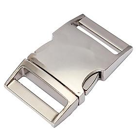 15/20/25mm Metal Steel Curved Side Release Buckle Paracord Bracelet Dog Collar