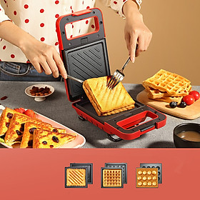 HYUNDAI sandwich machine QC-KP6203 double-sided frying and one-click opening anti-sticky and easy to clean