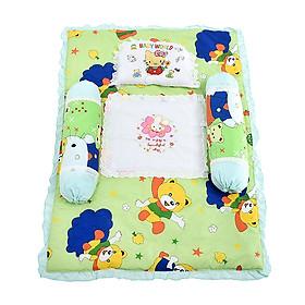 Bộ nệm họa tiết viền ren dễ thương(gồm 2gối ôm va 1 gối đầu và 1 nệm )cho bé