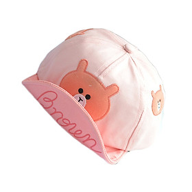 Nón mũ lưỡi chai cho bé trai và bé gái mặt gấu 1 mầu