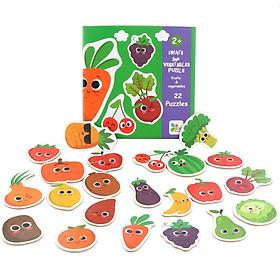 Đồ chơi gỗ tranh ghép hình trái cây cho bé từ 2 tuổi, xếp hình puzzel thông minh