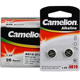 Hộp 40 Viên Pin Nút Áo Camelion AG10/LR54/389/SR1130W (1.5V)