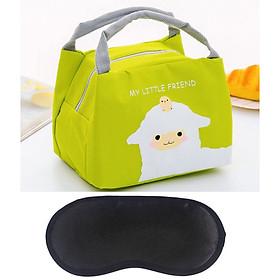 Túi đựng hộp cơm, bình sữa, trái cây giữ nhiệt + Tặng bịt mắt ngủ (màu ngẫu nhiên)